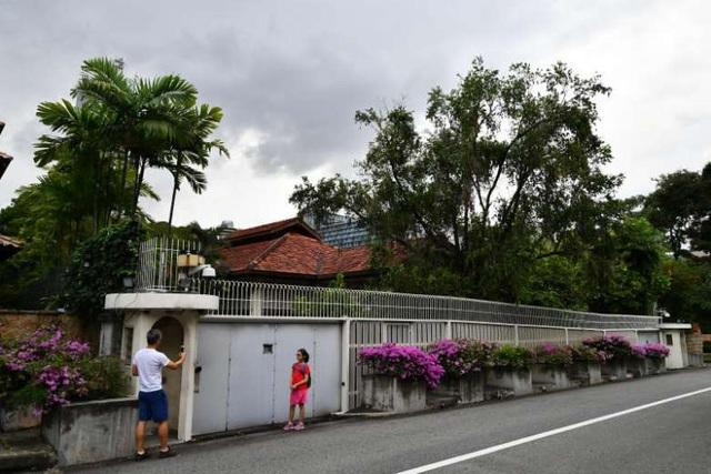 Căn nhà của cố Thủ tướng Lý Quang Diệu trên đường Oxley (Ảnh: ST)