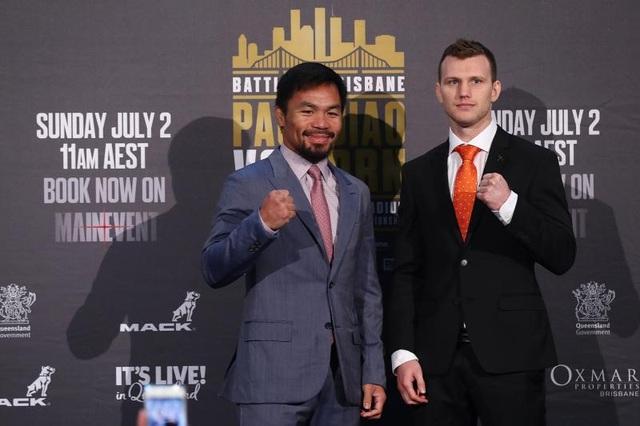 Manny Pacquiao được đánh giá cao hơn Jeff Horn trong cuộc chiến sắp tới