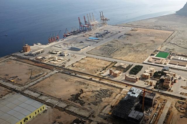 Cảng Gwadar, Pakistan nhìn từ trên cao (Ảnh: Reuters)