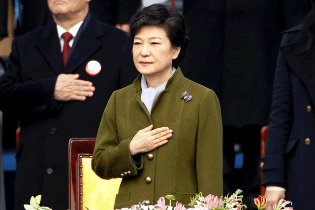 Bà Park trong lễ nhậm chức tổng thống hồi tháng 2/2013. (Ảnh: Reuters)