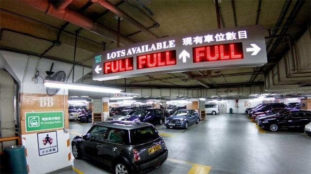Một chỗ đỗ xe vừa được bán với giá 5,18 triệu đô la Hong Kong (tương đương 664.300 USD, tức khoảng 15 tỷ đồng). (Ảnh: Apple Daily)