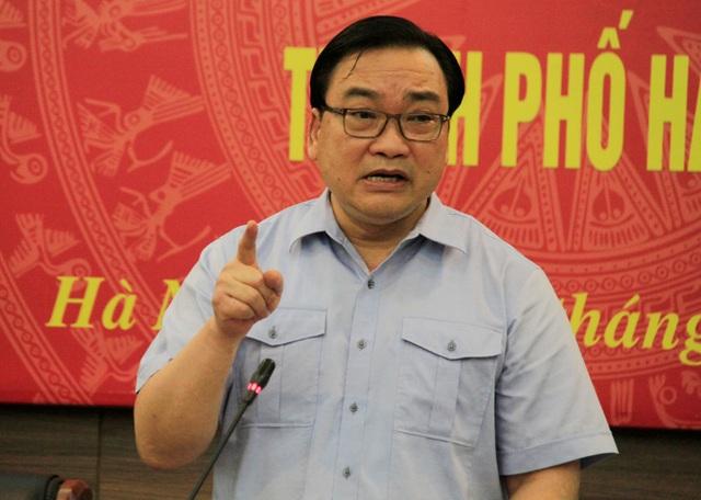 Ông Hoàng Trung Hải - Bí thư Thành ủy Hà Nội phát biểu tại buổi làm việc với Sở Cảnh sát PCCC Hà Nội