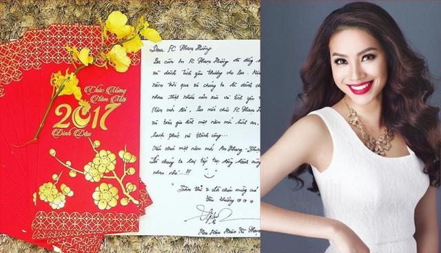 Vốn xuất phát là một giảng viên, Hoa hậu Phạm Hương có chữ viết rất đẹp, mềm mại, câu văn cũng rõ ràng, khúc chiết.