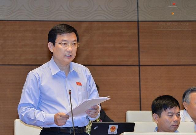 Đại biểu Phạm Trọng Nhân phát biểu tại phiên thảo luận.