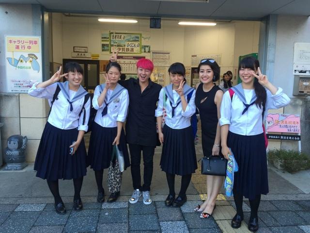 Phí Linh và Thanh Duy trong chuyến trải nghiệm văn hóa Nhật Bản.