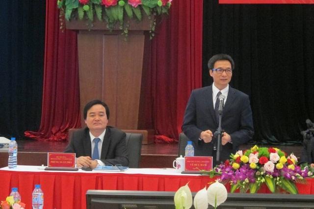 Phó Thủ tướng Vũ Đức Đam phát biểu tại buổi làm việc với Đà Nẵng