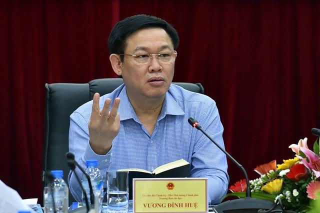 Phó Thủ tướng Vương Đình Huệ phát biểu tại buổi làm việc