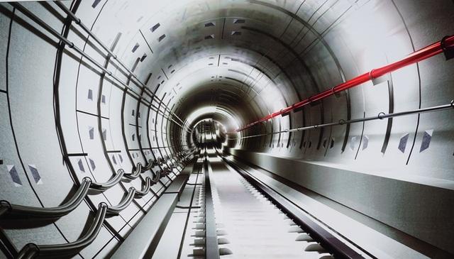 Phối cảnh đường hầm metro