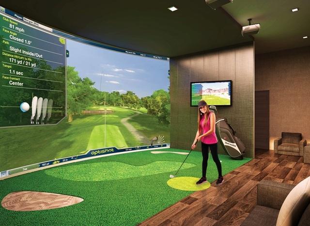 Phòng tập golf trong nhà là một tiện ích được rất nhiều golfer ưa thích