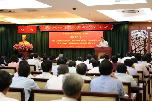 Thành ủy TPHCM tổ chức hội nghị tổng kết công tác phòng, chống tham nhũng, lãng phí năm 2016