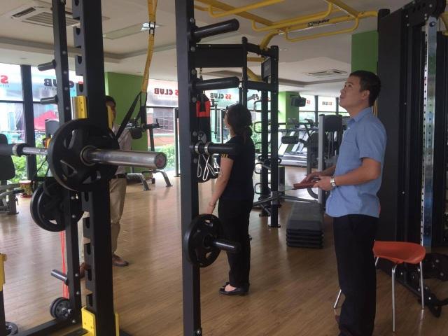 Vị trí tập gym- nơi nạn nhân N.A bất ngờ té ngã