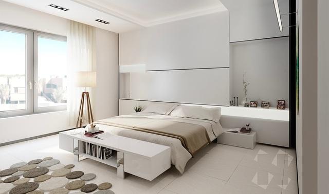 Gợi ý thiết kế phòng ngủ thanh lịch và đẳng cấp với gam màu trắng - 2