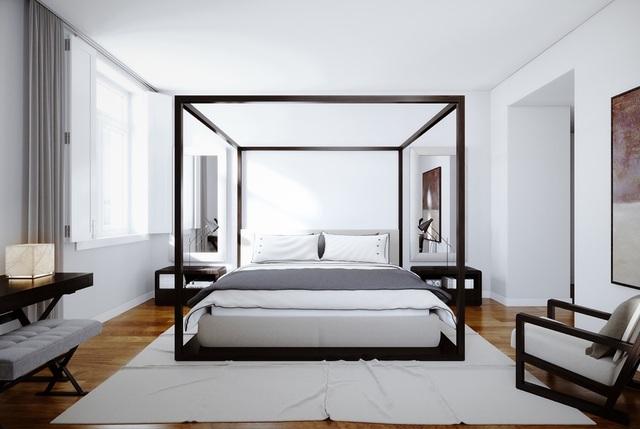 Gợi ý thiết kế phòng ngủ thanh lịch và đẳng cấp với gam màu trắng - 3