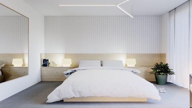 Gợi ý thiết kế phòng ngủ thanh lịch và đẳng cấp với gam màu trắng - 5