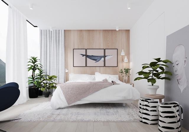 Gợi ý thiết kế phòng ngủ thanh lịch và đẳng cấp với gam màu trắng - 6