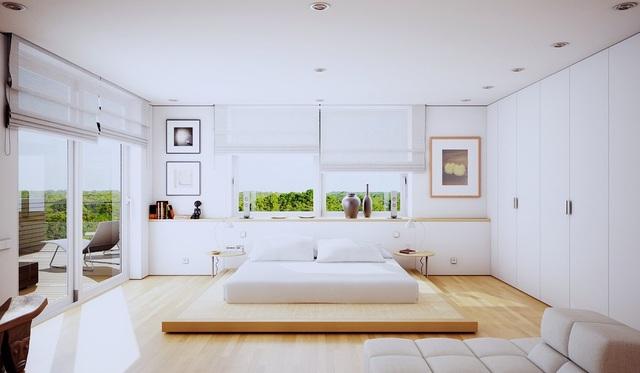 Gợi ý thiết kế phòng ngủ thanh lịch và đẳng cấp với gam màu trắng - 8