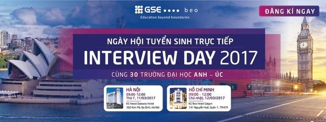 Cơ hội học bổng hấp dẫn chỉ có tại Ngày hội tuyển sinh trực tiếp Interview Day - 1