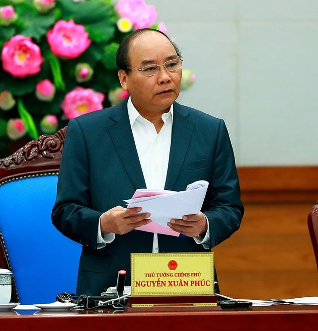 Thủ tướng phát biểu mở đầu phiên họp Chính phủ thường kỳ tháng 2. Ảnh: VGP