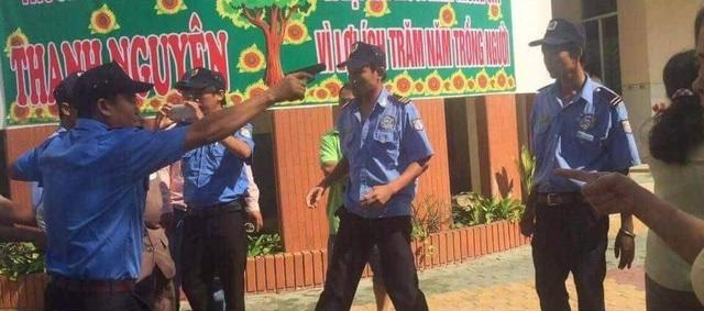 Nhóm bảo vệ rút súng uy hiếp các cán bộ trường Thanh Nguyên