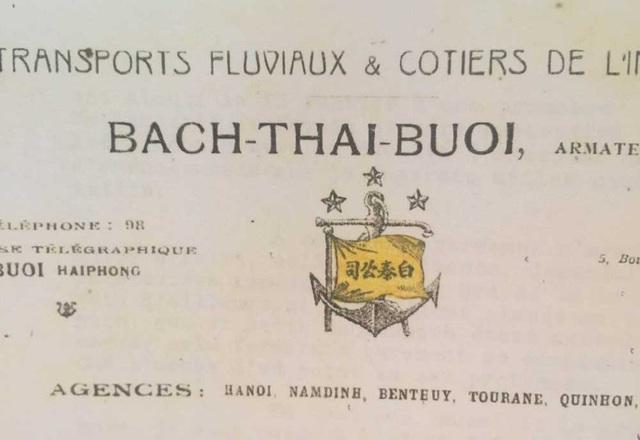 Kí hiệu cờ của công ty tàu thủy do Bạch Thái Bưởi sáng lập. Ảnh: Gia đình cung cấp