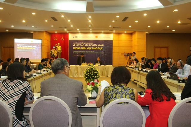 Hội thảo lấy ý kiến hoàn thiện dự thảo Nghị định về hợp tác, đầu tư nước ngoài trong lĩnh vực giáo dục diễn ra chiều ngày 18/4