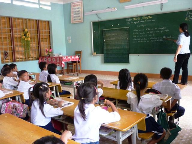 Nhiều địa phương phản ánh việc tinh giản biên chế giáo viên rất khó, nhất là trong lúc lực lượng này đang thiếu hụt Ảnh: KỲ NAM