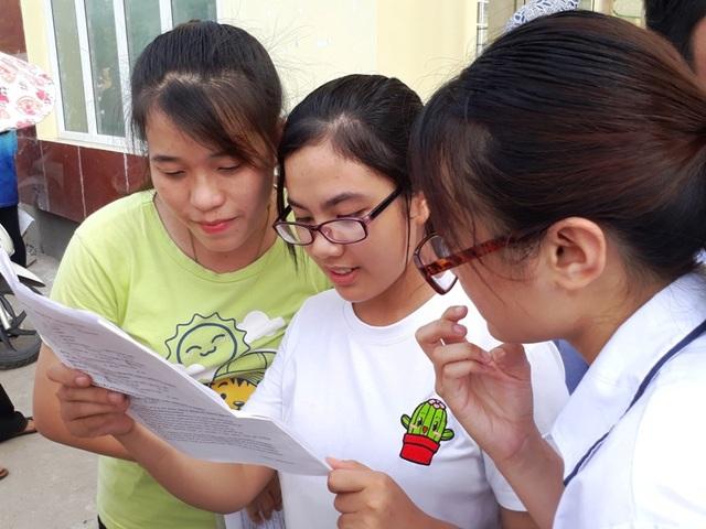 Thanh Hóa đã hoàn thành công tác chấm thi THPT quốc gia năm 2017. (Trong ảnh: Học sinh Thanh Hóa tham dự kỳ thi THPT quốc gia 2017)