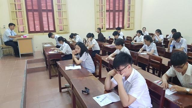 Thí sinh tỉnh Thừa Thiên Huế dự thi THPT Quốc gia 2017. (Ảnh: Đại Dương)