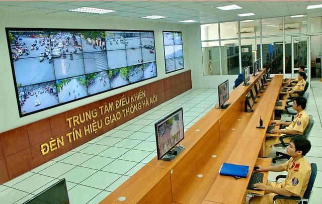 Trung tâm điều khiển đèn tín hiệu giao thông Hà Nội.