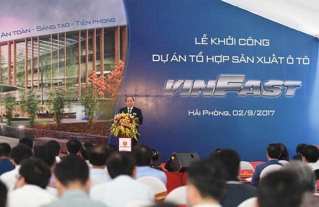 Dự án VINFAST chính thức khởi công, dự kiến năm 2019 dự án sẽ cho ra đời xe ô tô thương hiệu Việt