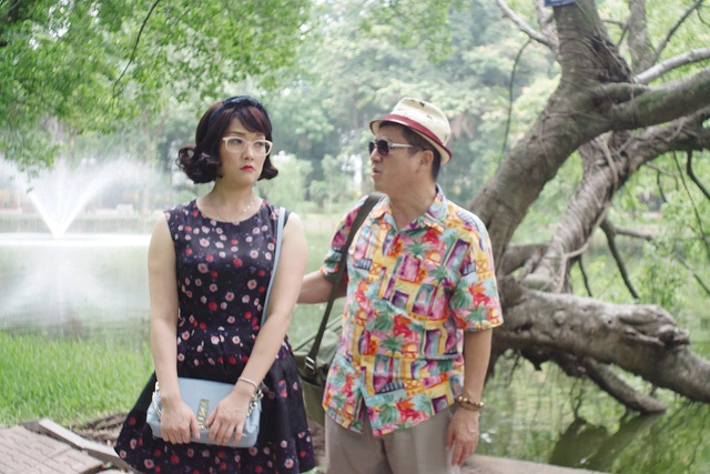 """NSƯT Chí Trung và Vân Dung trong phim """"Ghét thì yêu thôi"""" (ảnh do VTV cung cấp). ảnh: TL"""