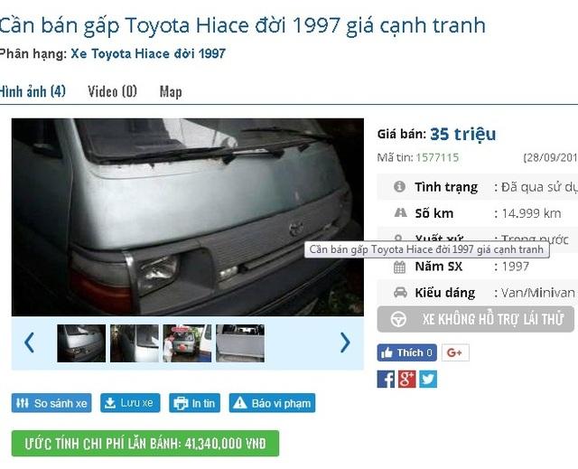Một mẫu xe giá chỉ 35 triệu đồng. Ảnh: Lâm Anh