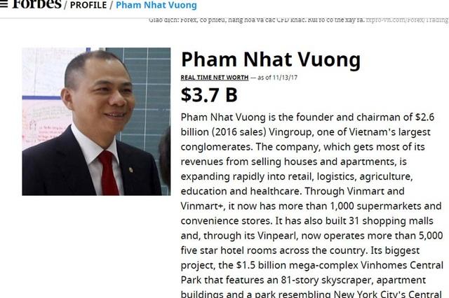 Vượt Donald Trump, ông Phạm Nhật Vượng lộ tài sản 4,8 tỷ USD - 1