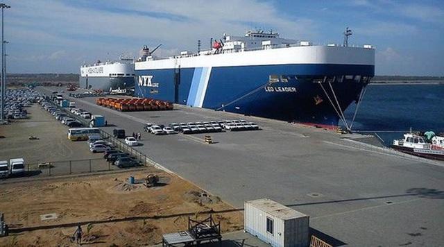 Cảng Hambantota nằm ở vị trí chiến lược nhìn ra Ấn Độ Dương. Ảnh: INDIAN EXPRESS