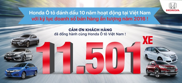 Honda Việt Nam đạt doanh số kỷ lục trong năm 2016 - 1