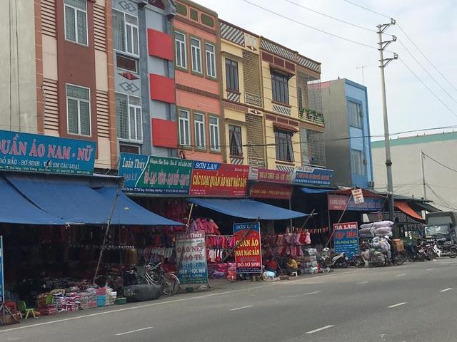 Xã Thổ Tang sầm uất với những ngôi nhà cao tầng mọc lên san sát