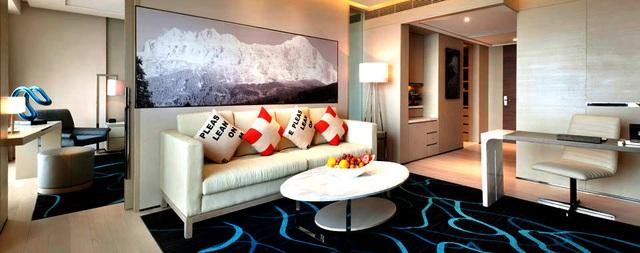 Một góc phòng trong khách sạn Swiss Touches tại Thượng Hải.