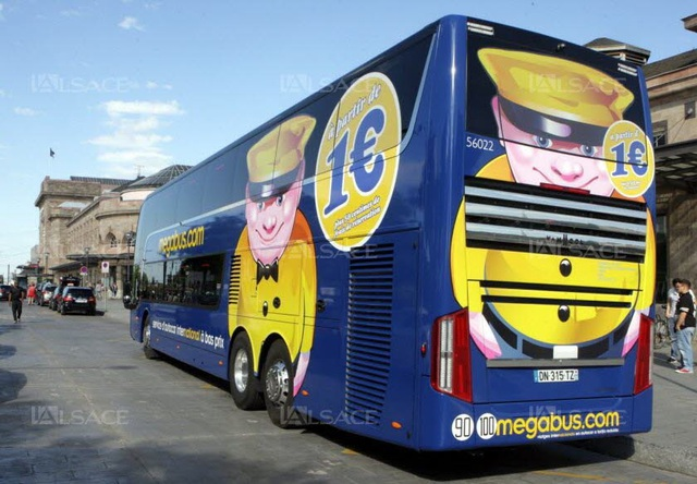 Hãng xe buýt Megabus phù hợp cho những người đi du lịch châu Âu ít tiền