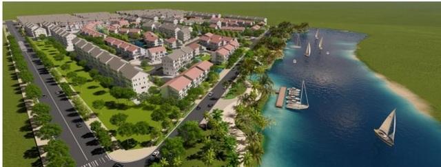 Sentosa Riverside được quy hoạch đan xen 1 bên là biệt thự và 1 bên là nhà phố