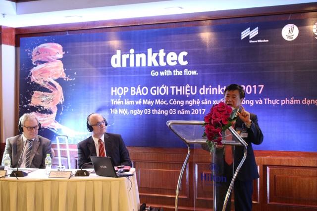 Triển lãm drinktec 2017 - Triển lãm về Máy móc và Công nghệ sản xuất Đồ uống và Thực phẩm dạng lỏng dự kiến sẽ có khoảng 300 doanh nghiệp tham gia. (Ảnh: Hồng Vân)