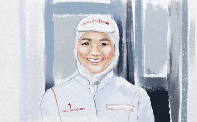 Nụ cười hạnh phúc của công nhân nhà máy Acecook Việt Nam khi tạo ra những sản phẩm mang hạnh phúc cho người tiêu dùng
