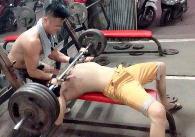 Hình ảnh tại một phòng tập thể hình ở Hà Nội. Ảnh: Minh Anh