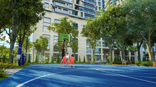 Phối cảnh khu sân chơi thể thao tại dự án GoldSeason (47 Nguyễn Tuân, Q.Thanh Xuân, Hà Nội).