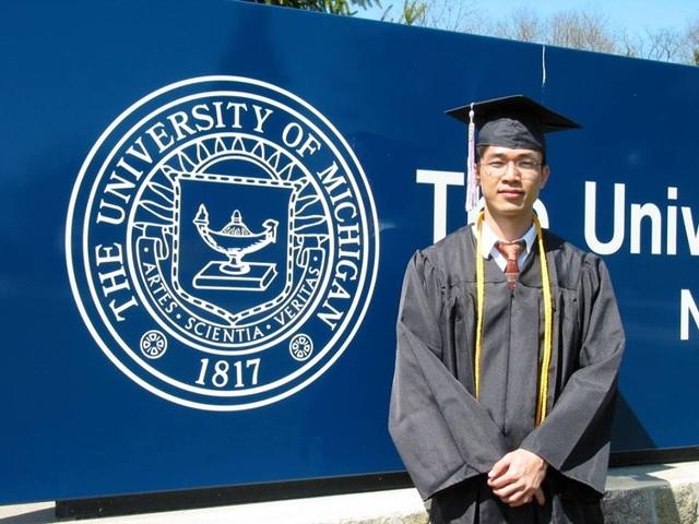 Chàng trai Việt tốt nghiệp ĐH Kiến trúc tại ĐH Michigan, Mỹ.