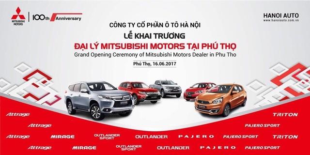 Mitsubishi Hanoi Auto khai trương đại lý 3S tại Thành phố Việt Trì - Phú Thọ.