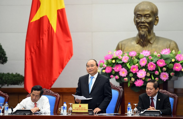 Thủ tướng cho rằng, báo chí là cầu nối hữu hiệu giữa doanh nghiệp và Chính phủ. Ảnh: VGP/Quang Hiếu