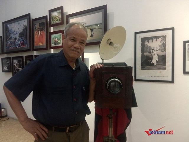 Ông Nguyễn Văn Thắng - Chủ nhiệm CLB nhiếp ảnh Nguyễn Đình Khánh, Hà Nội. Ảnh: Diệu Bình