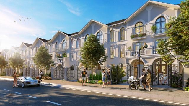 Nhà liền kề tại tiểu khu Tulip dự án Vinhomes Riverside – The Harmony