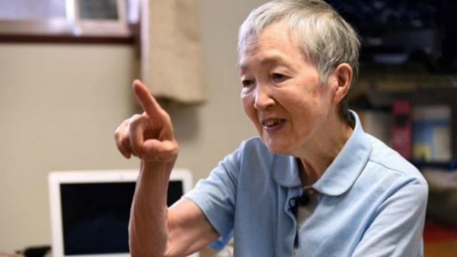 Masako Wakamiy, nhà phát triển ứng dụng Hinadan, một trong những trò chơi đầu tiên của Nhật Bản dành riêng cho người già. (Nguồn: AFP)