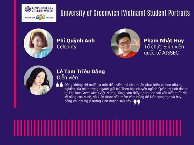 Sinh viên tiêu biểu chuyên ngành QTKD tại Đại học Greenwich (Việt Nam).
